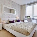 3-tapet cu imprimeu floral decor perete dormitor modern elegant