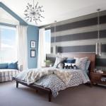 3-tapet decorativ in dungi orizontale finisare perete dormitor