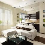 3-tavan fals separare vizuala bucatarie de living open space