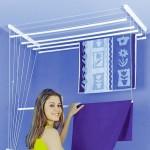 3-uscator de rufe sistem scripete pentru tavanul din baie sau din balcon