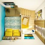 3-vedere de sus dormitor matrimonial cu scara interioara tavan 4 metri inaltime