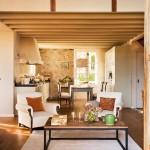 3-vedere din living spre bucataria rustica moderna
