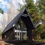 3-vedere fronatala Casa R structura din otel forma dreptunghiulara simpla