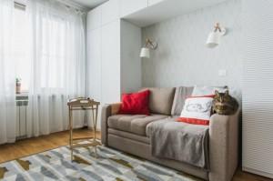 3-zona de relaxare in livingul garsonierei de 33 mp