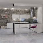 bucatarie moderna decorata piatra naturala