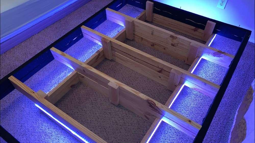 3 montare-iluminat-LED-baza-mica-pat-plutitor