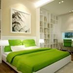 4-accente cromatice verzi in amenajarea unui dormitor conform principiilor Feng Shui