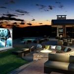 4-amenajare cinema in aer liber in curtea casei