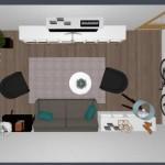 4-amenajare living apartament cu 3 camere Aida