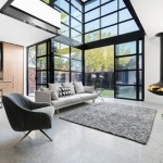 4-amenajare minimalista living casa cu semineu