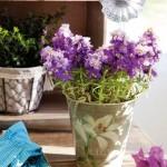 4-aranjament floral in galetusa metalica pictata