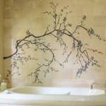 4-autocolant decorativ ilustrand un copac decor faiata perete baie