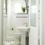 4-baie clasica alba pardoseala mozaic alb cu negru