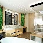 4-baie matrimoniala spatioasa decorata cu doua tablouri din plante verzi