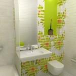 4-baie moderna alba cu accente verde crud