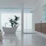 4-baie moderna cu pardoseala alba din beton slefuit
