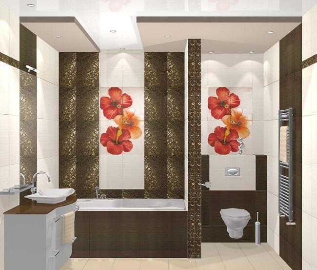 4-baie moderna decorata in alb maro si accente rosii