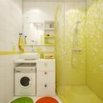 4-baie moderna minimalista amenajata si decorata in alb si galben