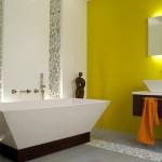 4-baie moderna minimalista perete galben lamaie