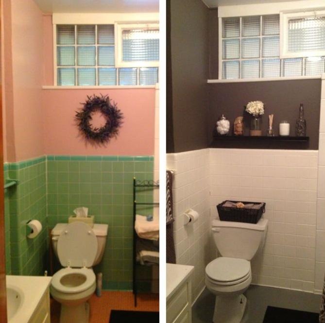baie veche faianta vopsita renovare