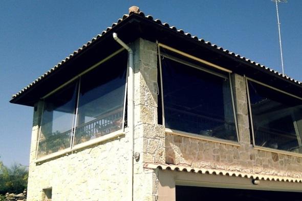 4-balcon terasa inchis cu rulouri transparente de plastic pvc