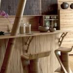 4-bar bucatarie interior casa din bambus proiect Ibuku Indonesia