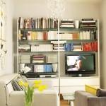 4-biblioteca mica living modern open space apartament mic