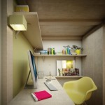 4-birou spatiu de lucru amenajat sub patul inaltat dormitor de 10 mp