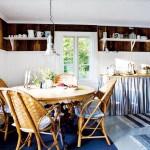 4-bucatari rustica scandinava decorata in alb si albastru