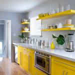 4-bucatarie moderna mobila galben lamaie