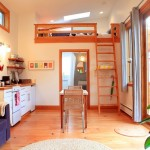 4-bucatarie open space living casa mica din lemn