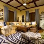 4-canapea coltar living culoare galbena asortata cu nuanta peretilor