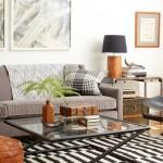 4-canapea gri in decor modern cu elemente vintage
