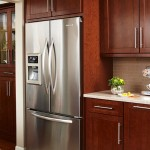 4-combina frigorifica side by side bucatarie moderna mobila culoare mahon