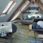 4-combinatii de stiluri rustic si industrial in amenajarea unui dormitor mansardat