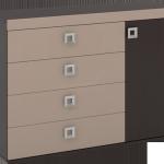 4-comoda cu sertare si dulap cu usa model Domino magazin Lemet