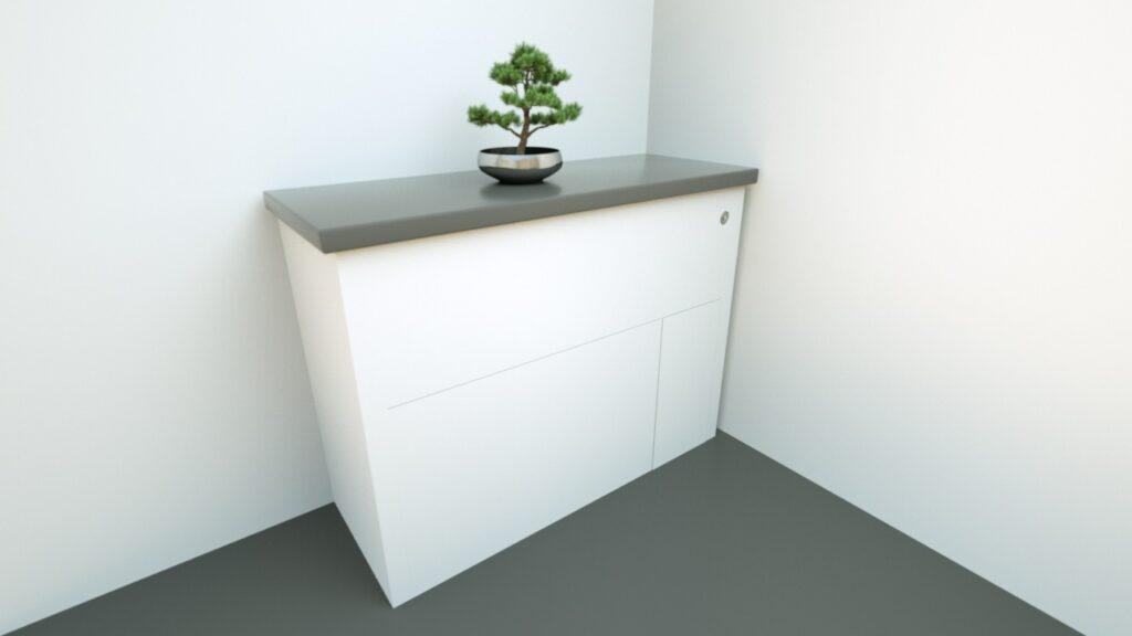 comoda cu wc rabatabil integrat Hidealoo