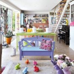 4-decor living open space casa colorata la tara