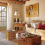 4-decor vintage living casa rustica din piatra naturala