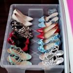 4-depozitarea si organizarea pantofilor in cutii de plastic