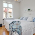 4 dormitor alb amenajat in stil modern scandinav