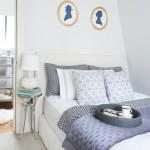4-dormitor amenajat si decorat in alb si decorat accesorii textile albastre