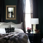 4-dormitor amenajat si decorat in negru cu mici accente albe si gri