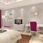 4-dormitor clasic cu peretii decorati cu tapet lichid