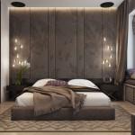 4-dormitor matrimonial decorat in tonuri de maro