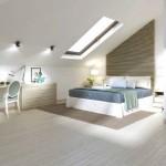 4-dormitor matrimonial minimalist amenajat in mansarda