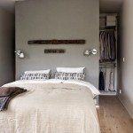 4-dormitor mic cu dressing amenajat in spatele peretelui de la capul patului
