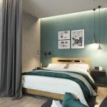 4-dormitor modern amenajat in plan deschis cu livingul