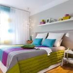 4-dormitor modern dupa renovare pereti gri mobila alba