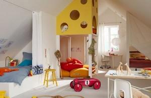 4-dormitor si camera de joaca pentru copii in mansarda